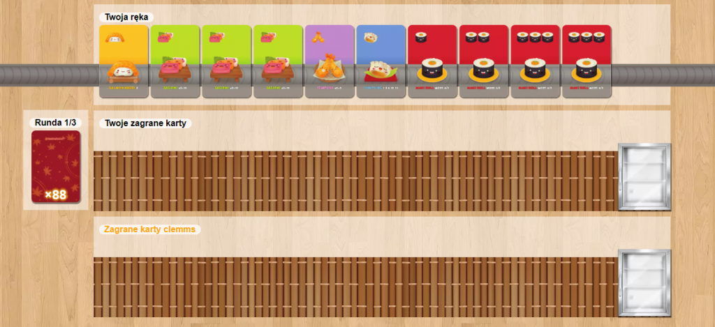 screen z gry sushi go